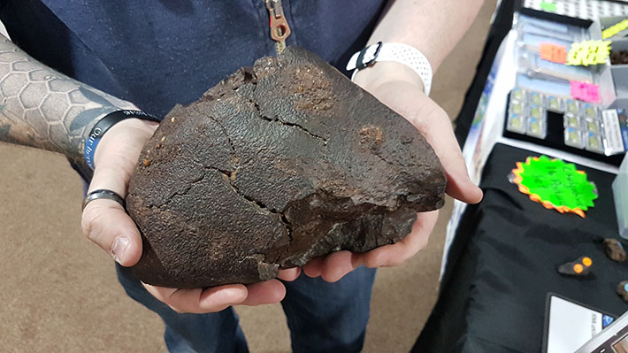 Meteorites for sale at PAS